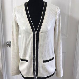 Rachel Zoe Cream sequin jacket